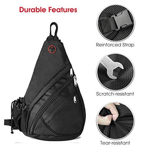 Bag Chest Sling Black1027 Adjustable Strap Pack Shoulder Wandf Backpack Crossbody With Black tEwfqn