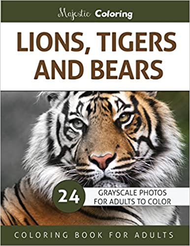 Amazon Com Lions Tigers And Bears Grayscale Photo