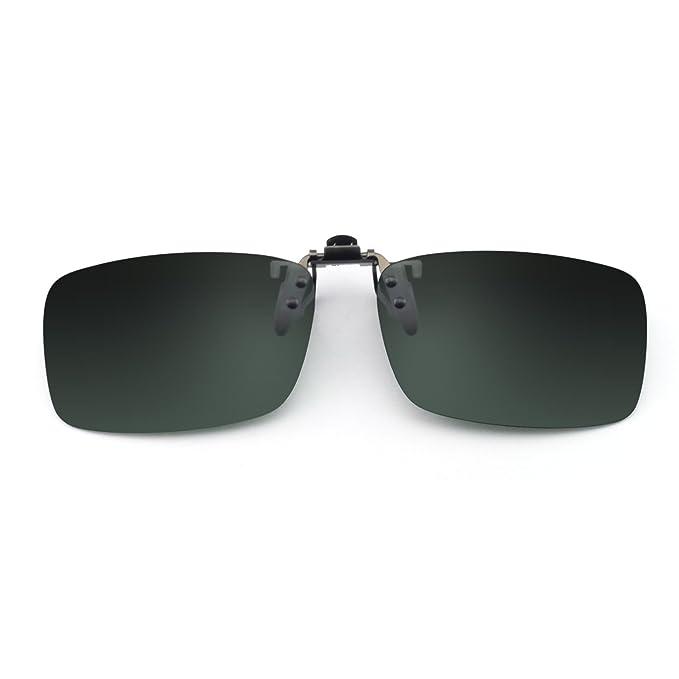 7f90876fc8 OCCI CHIARI Rectangle Clip on Sunglasses UV Blocking for Womens and Mens