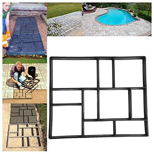 "Paver Molds for Concrete, 23.6"" x 19.7"" x 1.97"" 10 Grid DIY Paving Pavement Road Patio Concrete Mold Stepping Brick Stone Mold, Driveway Garden Lawn Path Paver Walkmaker Mould, Rectangular Patterns"