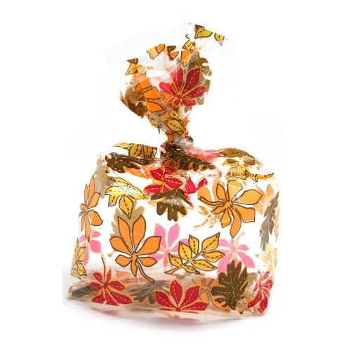 Fall Leaves Cellophane Bags -