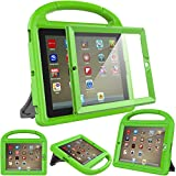 Surom Kids Case with Built-in Screen Protector for iPad 4, iPad 3 & iPad 2, Shockproof Convertible Handle Stand Case Cover for iPad 2nd 3rd 4th Generation - Green