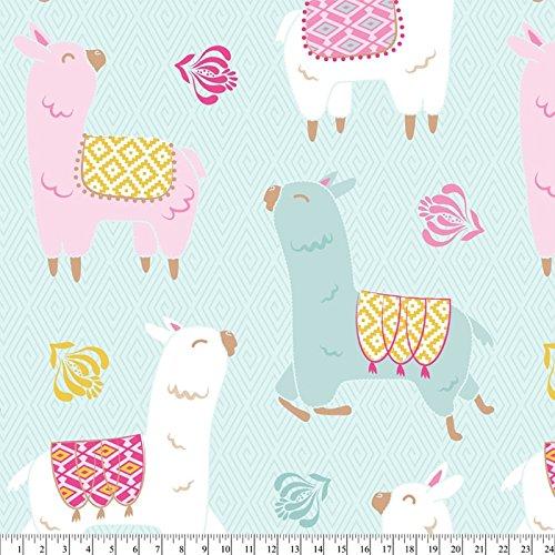 Anti Pill Fleece - Llamas Smile Anti-Pill Fleece Fabric By The Yard