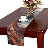 Human Face Fur Animal Fur Werewolf Creepy Horror Table Runner, Kitchen Dining Table Runner 16 X 72 Inch For Dinner Parties, Events, Decor
