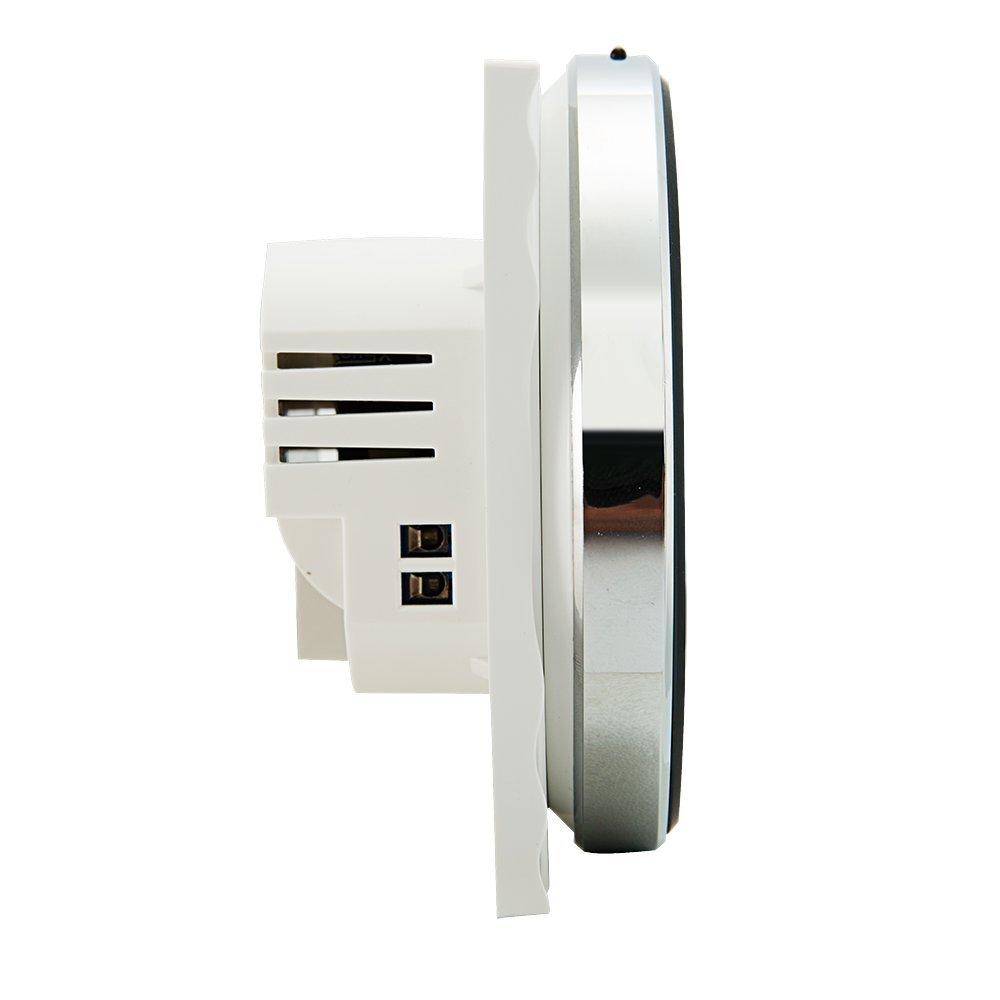 Programable Termostato,Arxus Pantalla LCD T/áctil Inteligente Moderna y Redonda 3//16A Programable Termostato de Ambiente por Agua,El/éctrico,Caldera Calefacci/ón