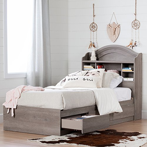 - Twin Mates Bed 39'', 3 Drawers, Sand Oak Color, Laminated Particle Board, Wooden Knobs, Rounded Corners, Reversible, Metal Drawer Slides, Bundle with Our Expert Guide with Tips for Home Arrangement