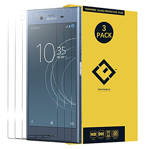 Sony Xperia XZ1 Glass Screen Protector,(3 Packs) Anti-Glare Ultra-Thin Clear 9H Hardness Tempered Glass Protective Film for Sony Xperia XZ1 G8341 G8342 G8343 SO-01K 701SO 5.2 inch