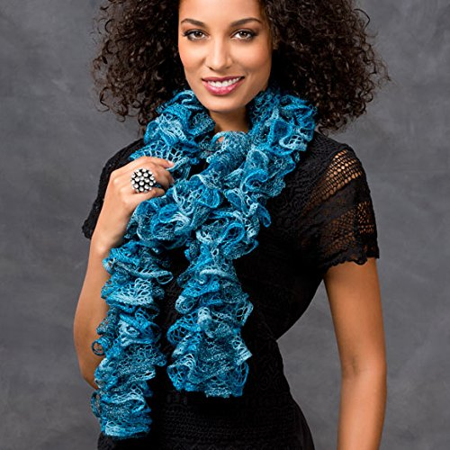 Crochet Fashion Ruffled Scarf