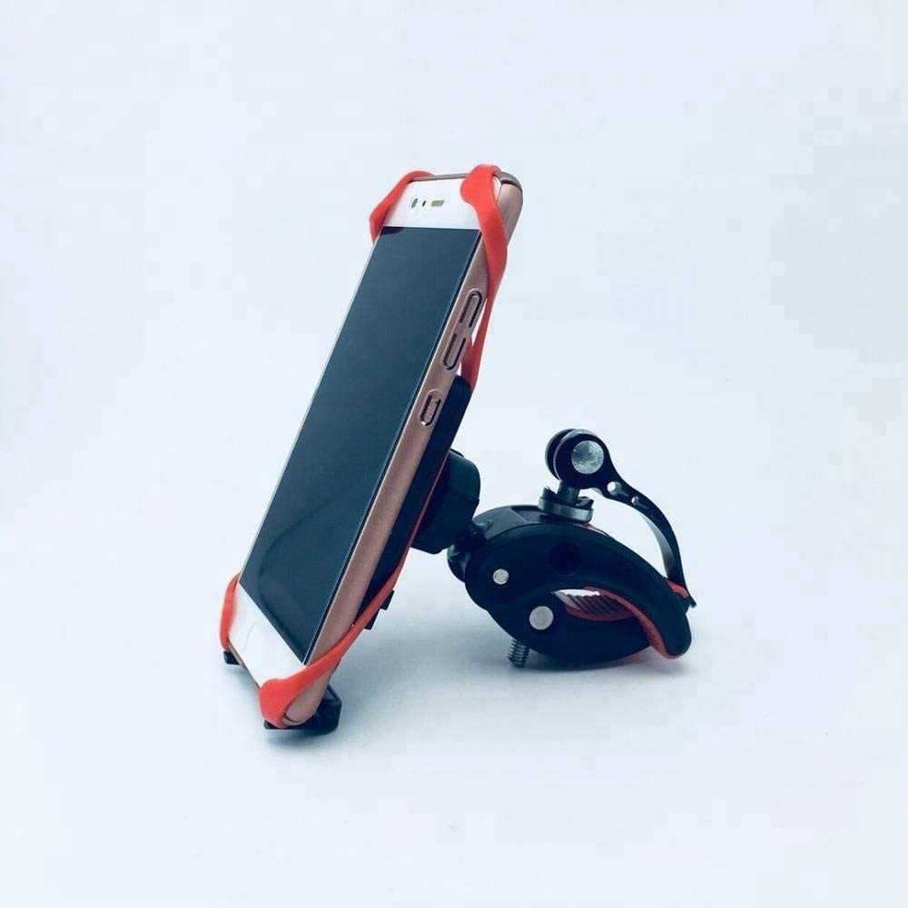 Scratch Proof Heavy Duty Silicone Lined Clamps YBM Universal Bike and Motorcycle Cell Phone Holder Mount for Handlebars Fits Any Bicycle Models and Phone Size Easily Adjustable