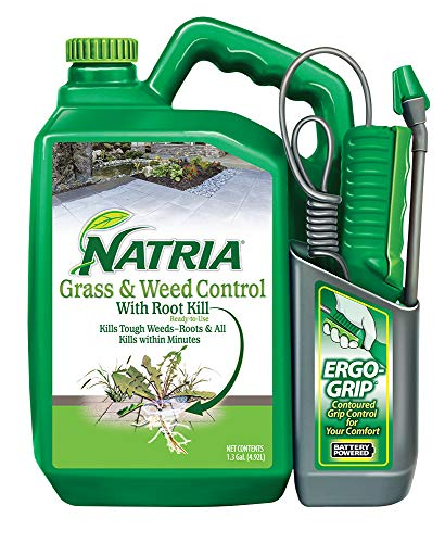 Natria 706510A Grass & Weed Control with Root Kill Herbicide Weed Killer, Ready-to-Use, 1.3 Gallon