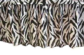 """Kwik-Cover KS3096PK-Z PKG. Zebra Kwik-Skirt With 30"""" X 96"""" White Cover Fitted Table Cover With Skirt, (1 full case of 10)"""
