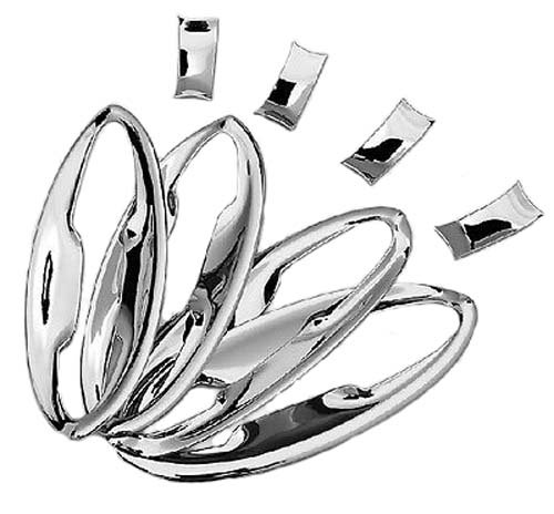 ABS Chromed Door Handle Bowl Cover Trim for Honda JAZZ FIT 2014 2015