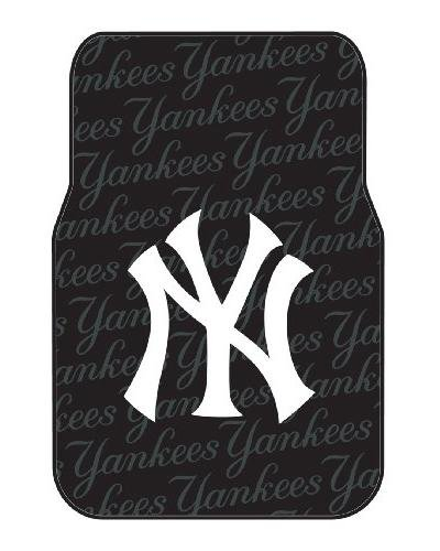 MLB New York Yankees Auto Front Floor Mat, 2-Pack (Mlb Mat Rubber Floor)