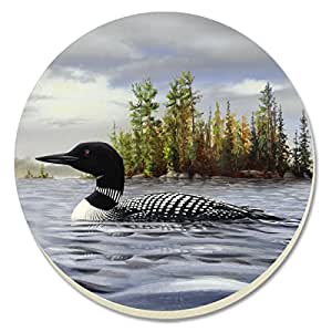 CounterArt Loon on Lake Absorbent Coasters, Set of 4