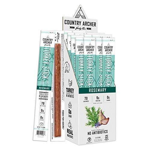 Rosemary Turkey Sticks by Country Archer | Antibiotic Free | Paleo, Keto, Gluten Free | 24 Count