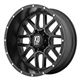 XD Series by KMC Wheels XD820 Grenade Satin Black Wheel (17x9''/5x127mm, -12mm offset)