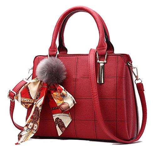 Fabricación Lady Wu Pu Salvaje Zhi Bolso A Handbag Hombro Bag Messenger Granel Red 8RFHxAwqRf
