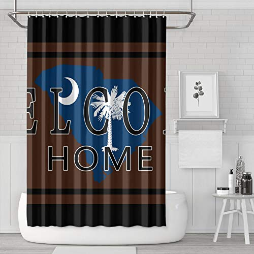 - BOShout South Carolina Welcome Home Shower Curtain Waterproof Durable for Bathroom,Printing Bath Curtains