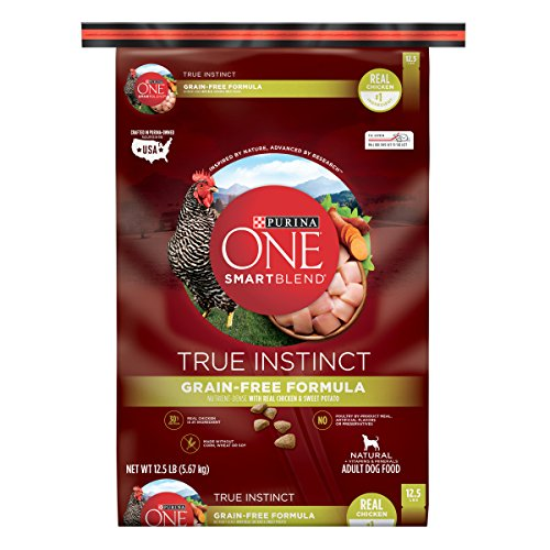 Purina ONE Grain Free, Natural, High Protein Dry Dog Food, SmartBlend True Instinct Real Chicken - 12.5 lb. Bag (Purina One Grain Free Dog Food)