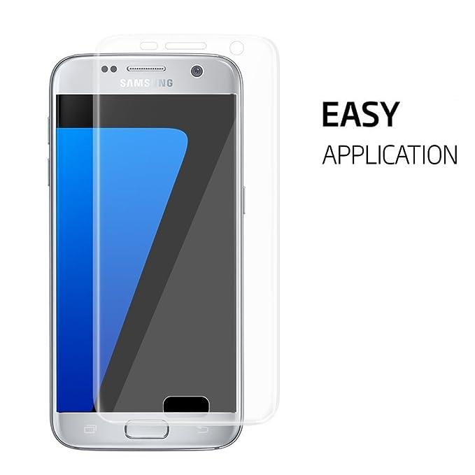 [2 unidades] Samsung Galaxy S7 Protector de pantalla, mustone Galaxy S7 cristal templado Protector de pantalla [anti-scratch] [EASY-INSTALL] [sin burbujas] ...
