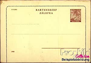 documentos enteropostales para coleccionistas: bohemia y Moravia k2 oficial carta sin borde usado 1940 carta