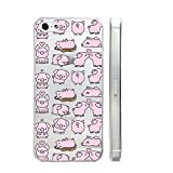 Cute Pig Quote Text Slim Iphone 5 5S Case, Text Clear Iphone 5 5S Hard Cover Case For Apple Iphone 6/6S -Emerishop (VAE291.5sl)