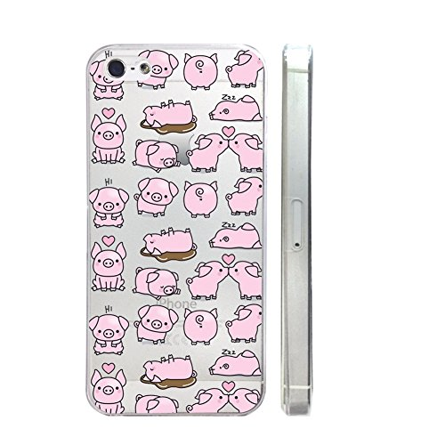 Cute Pig Quote Text Slim Iphone 5C Case, Text Clear Iphone 5C Hard Cover Case For Apple Iphone 5C -Emerishop (VAE291.5C)