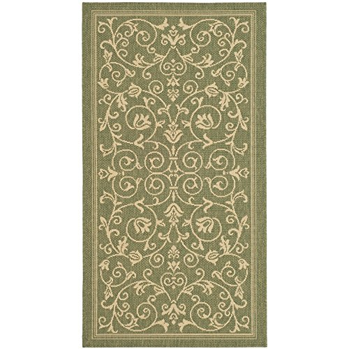 Safavieh Courtyard Collection CY2098-1E06 Olive and Natural Indoor/ Outdoor Area Rug (2' x 3'7