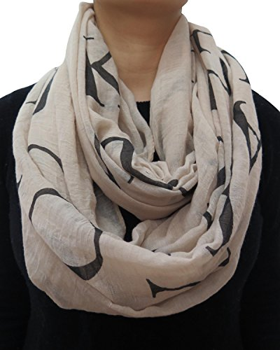 Lina & Lily Alphabet Letters Infinity Scarf for Women Lightweight ()