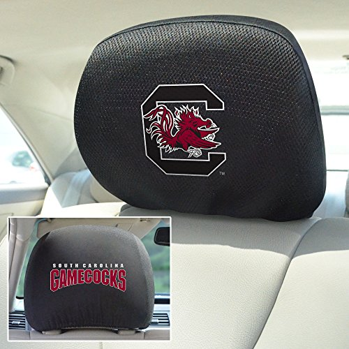 Ncaa Covers Headrest (FANMATS NCAA University of South Carolina Gamecocks Polyester Head Rest Cover)