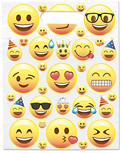 Emoji Faces Party Treat Bags 12 Pack