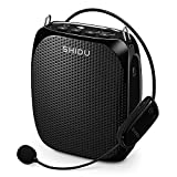 BOUPOWER Shidu Portable Wireless Voice Amplifier & Microphone with waist band , MP3 Player /Recorder /FM ,Rechargeable Batteries for Teachers, Speakers, Yoga Instructors, Gym Directors