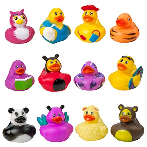 Kicko Assorted Rubber Duckies - 100 PC Bath Floater – Baby Showers Accessories – Bulk Ducks for Kids – Easter Party, Halloween Party Favors, Rubber Ducks Supplies and Favors by Kicko (Image #8)