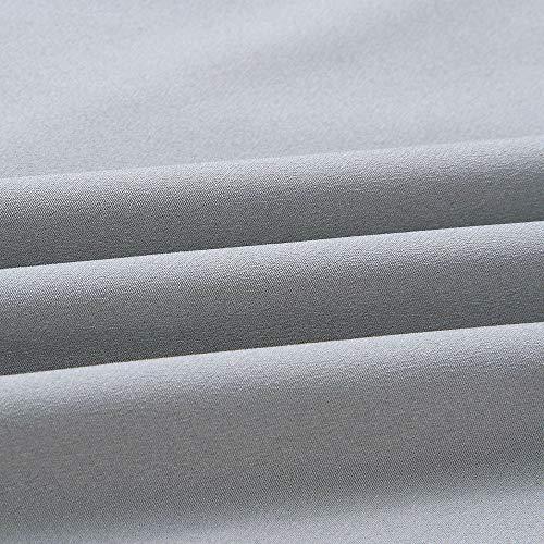 Longra Tunica Con Lunga A Top Camicetta Felpa Balze shirt Donna Camicie Camicia Blouse Vestito Elegante Forti Da Girocollo Manica Lungo Taglie T Casual Sciolta Asimmetrico Grigio qxI8BwC8En
