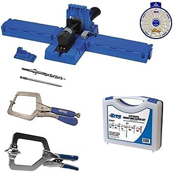 Kreg K5 Super Kit, K5 Jig, SK03 Screw Kit, KHC-1410 Automax Clamp, KHRC Right Angle Clamp,SSW Screw Selector