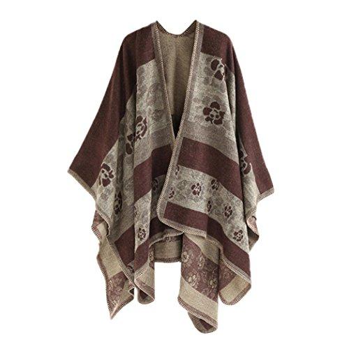 Kimono Cape Kolylong Femme Shawl Floral 0BgHBw5q