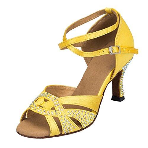 Miyoopark ,  Damen Tanzschuhe , gelb - Yellow-6cm heel - Größe: 35