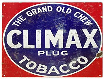 """Spark Plug Chewing Tobacco  Metal Sign 9/"""" x 12/"""" or 12/"""" x 16/"""""""