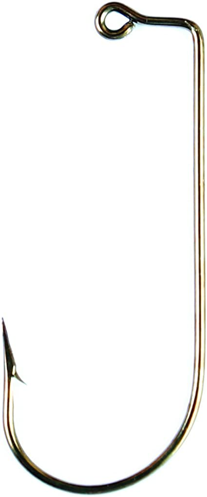 SIZE 4//0 EAGLE CLAW 570 Bronze Aberdeen Jig Hooks DO IT Molds 90 degree 100