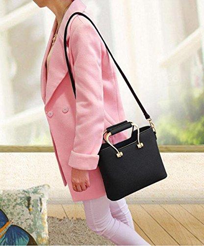Bandolera Shopper Dcspring Moda Elegante Piel De Azul Hombro Mujer Capacidad Para Gran Pu Bolso Mano q8XSxw8FZ