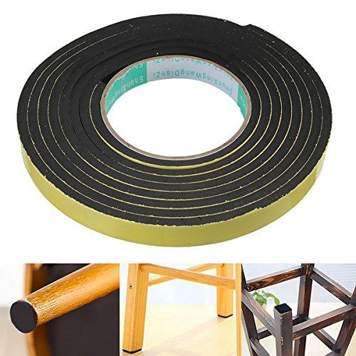 Sponge Rubber Tape Window Treatments - Black Stripping Seal Sponge Rubber Viscosity Single Seal - Parazoan Safety - 1PCs