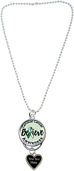 Holly Road Cervical Cancer Awareness Silver Chain Necklace Choose Your Text