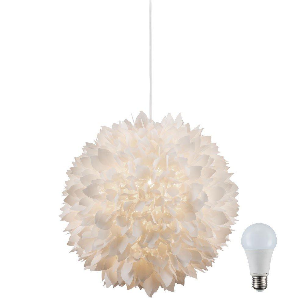 Pendel Leuchte Decken Hänge Lampe Blüten Kugel im Set inklusive 10 Watt LED Leuchtmittel