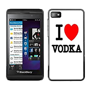 - Vodka - - Hard Plastic Protective Aluminum Back Case Skin Cover FOR Blackberry Z10 Queen Pattern