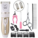 Dog Grooming Clippers Professional Low Noise and Cordless...