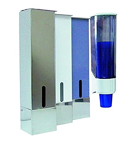 Dispensador para MONOART vaso de plástico y madera de