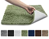 The Original GORILLA GRIP Slip-Resistant Shaggy Chenille Bathroom Rug Mat, 3 Sizes and 6 Colors, Extra Soft and Absorbent, Machine-Washable, Perfect for Bath, Tub, and Shower (Green, 30' x 20')
