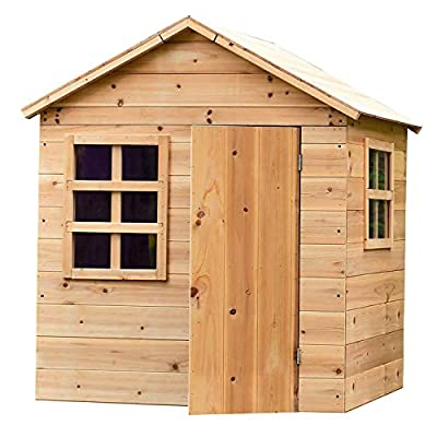 Toddlers Wooden Den Playhouse with Floor