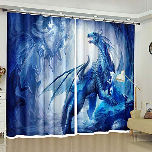 ZZHL Curtains Curtains,Hooks Rings Blackout Set Thermal Insulated Window Treatment Solid Eyelet Bedroom 2 Panels A7 (Size : 1.1x1.8m) by ZZHL (Image #3)