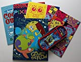 Set of 5 Nickelodeon SpongeBob Squarepaints Two Pocket Portfolio Folders, 8 1/2 x 11 - Plus One SpongeBob Pencil Pouch - Fun School Supplies for Kids by Staples